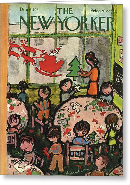 New Yorker December 8, 1951 Greeting Card