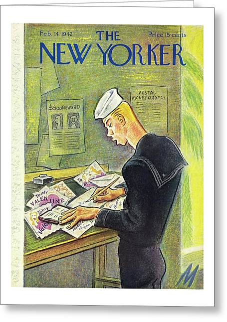 New Yorker February 14th 1942 Greeting Card