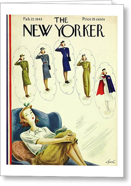New Yorker February 27th 1943 Greeting Card