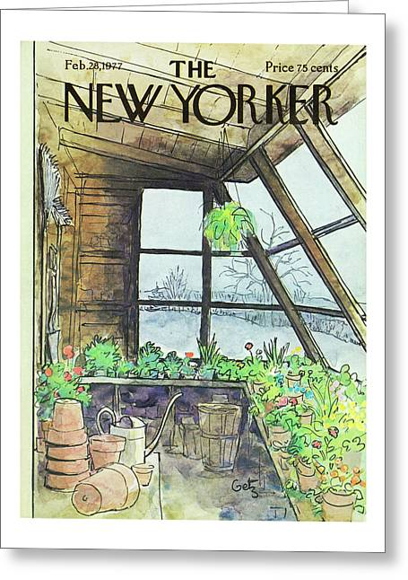 New Yorker February 28th 1977 Greeting Card