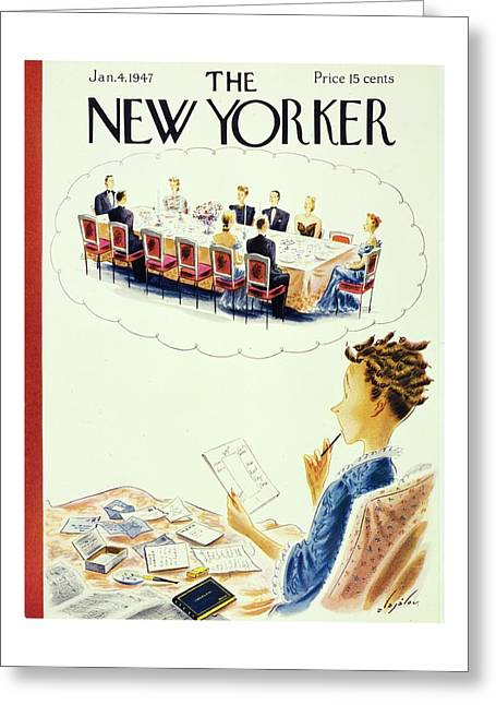 New Yorker January 4, 1947 Greeting Card
