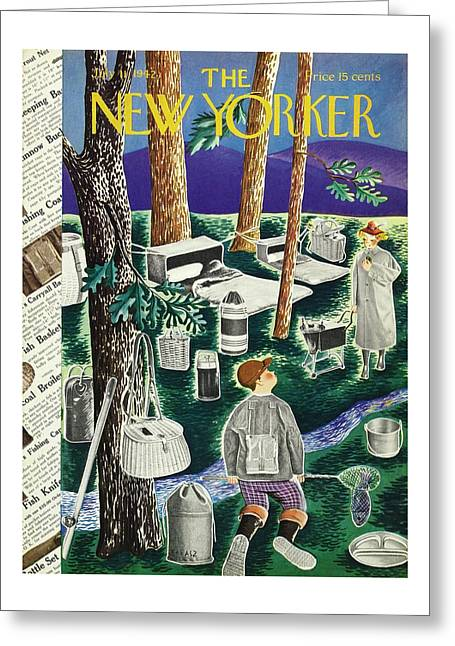 New Yorker July 11th 1942 Greeting Card