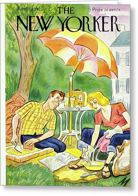 New Yorker July 12th 1947 Greeting Card