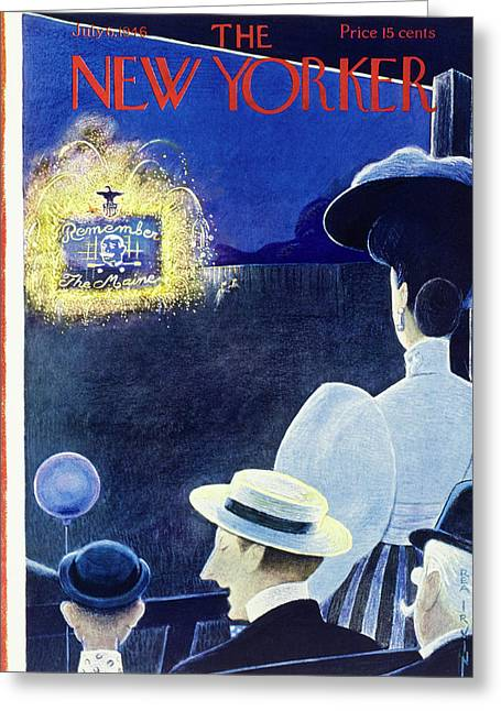 New Yorker July 6th 1946 Greeting Card
