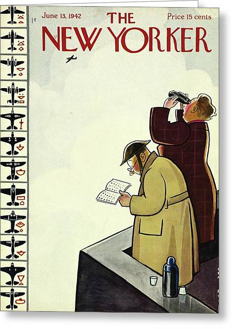 New Yorker June 13th 1942 Greeting Card