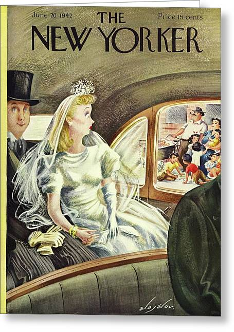 New Yorker June 20th 1942 Greeting Card