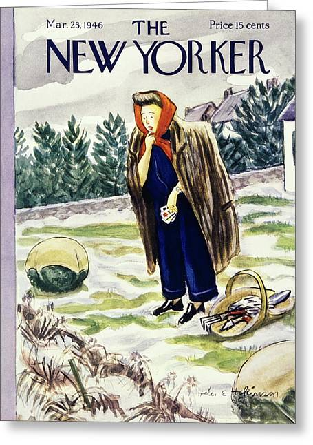 New Yorker March 23rd 1946 Greeting Card