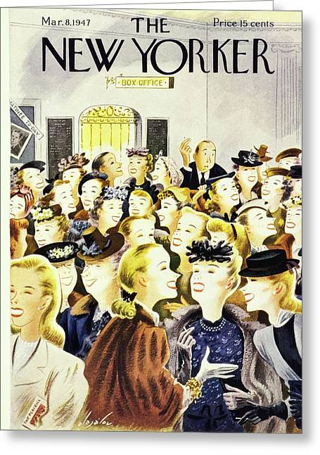 New Yorker March 8th 1947 Greeting Card