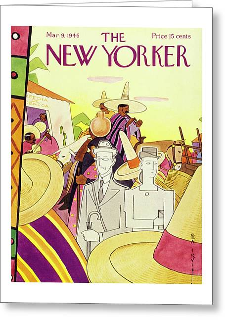 New Yorker March 9 1946 Greeting Card