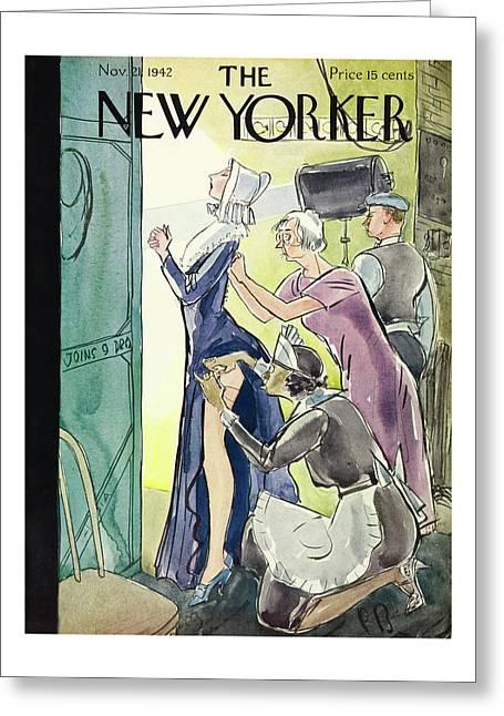 New Yorker November 21st 1942 Greeting Card