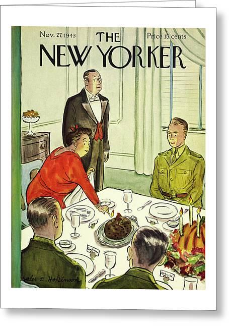 New Yorker November 27th 1943 Greeting Card