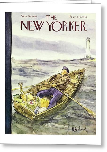 New Yorker November 30 1946 Greeting Card