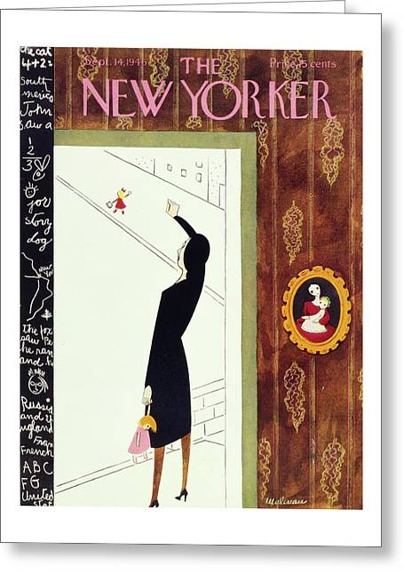 New Yorker September 14th, 1946 Greeting Card by Christina Malman
