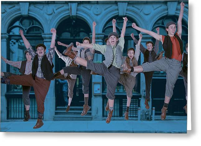Newsies At The Artisan Center Theater Greeting Card