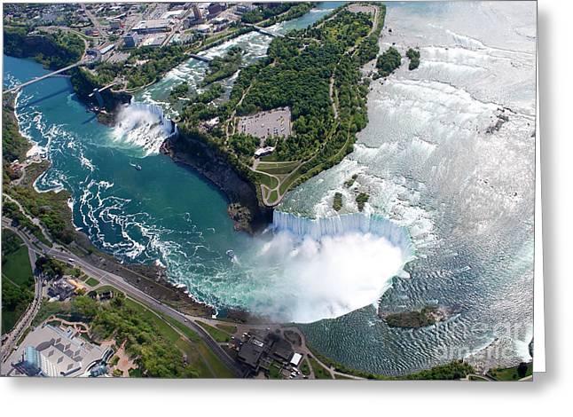 Niagara Falls American And Canadian Greeting Card