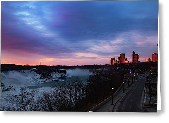 Niagara Falls At Sunrise Greeting Card