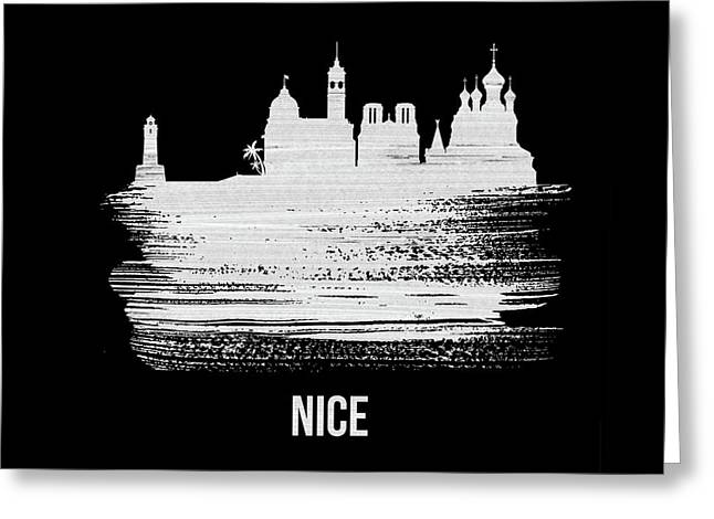 Nice Skyline Brush Stroke White Greeting Card