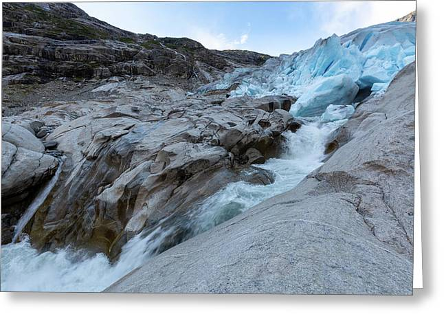 Greeting Card featuring the photograph Nigardsbreen, Norway by Andreas Levi