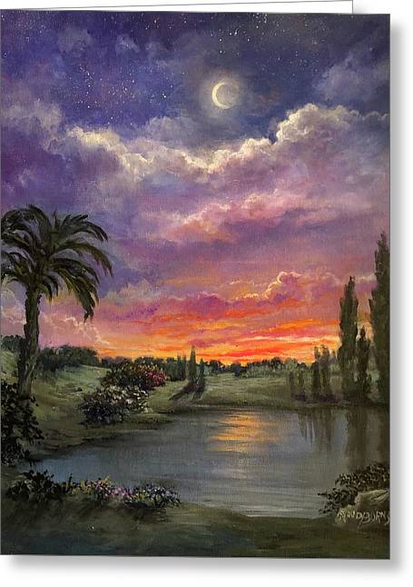 Night By Light Of Day Greeting Card