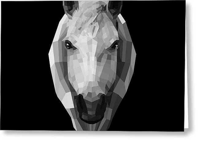 Night Horse Greeting Card