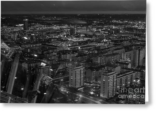 Night In Tampere Greeting Card by Tapio Koivula