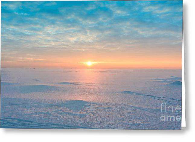 Night Is Coming Ice Desert Greeting Card