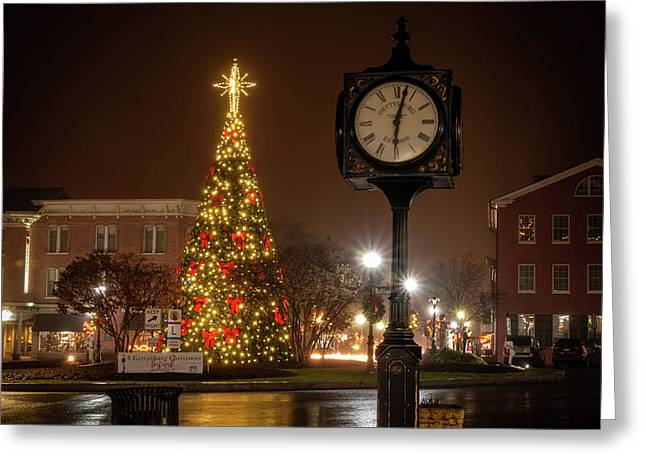 Night On The Square Greeting Card