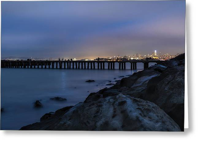 Night Pier- Greeting Card