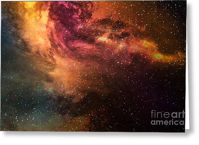 Night Sky With Stars And Nebula Greeting Card