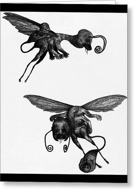 Nightmare Stinger - Artwork Greeting Card