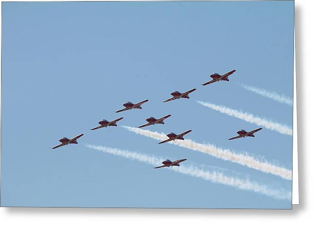 Nine Man Snowbird Formation Greeting Card