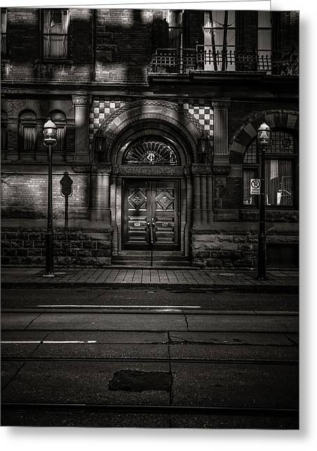 Greeting Card featuring the photograph No 107 Wellington St W Toronto Canada Toned Version by Brian Carson