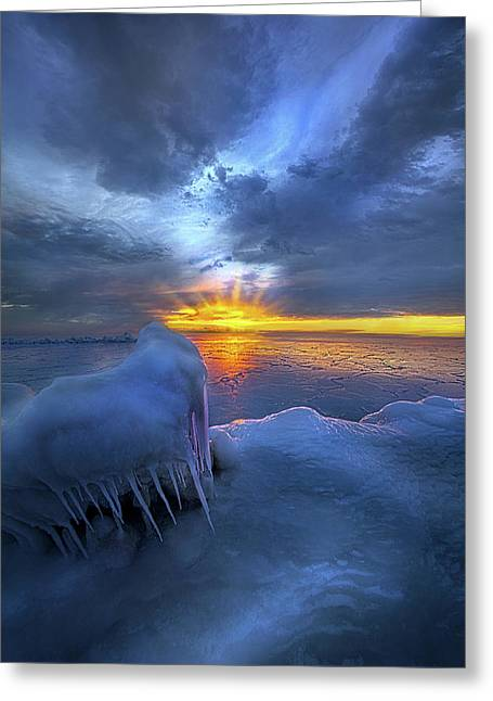 Greeting Card featuring the photograph No Winter Skips Its Turn. by Phil Koch