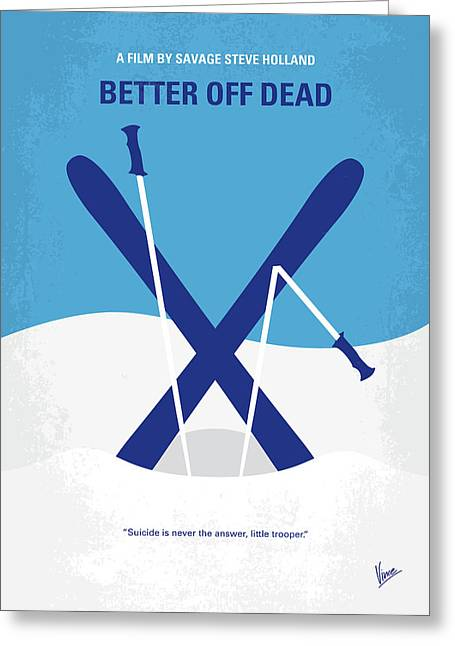 No1003 My Better Off Dead Minimal Movie Poster Greeting Card