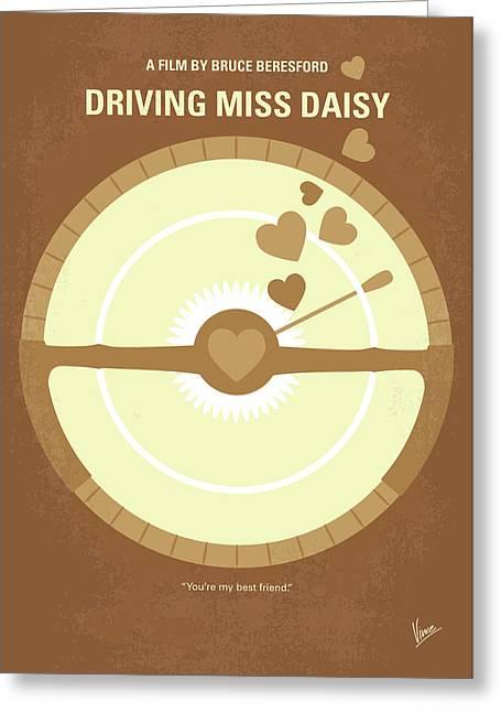 No1004 My Driving Miss Daisy Minimal Movie Poster Greeting Card