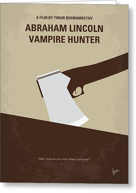 No1009 My Abraham Lincoln Vampire Hunter Minimal Movie Poster Greeting Card
