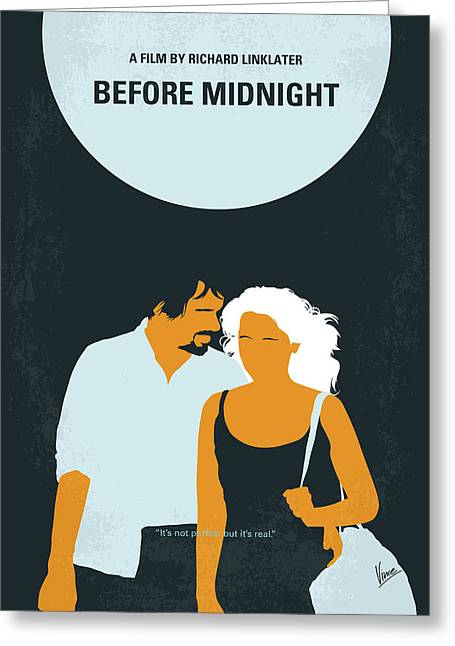 No1013 My Before Midnight Minimal Movie Poster Greeting Card