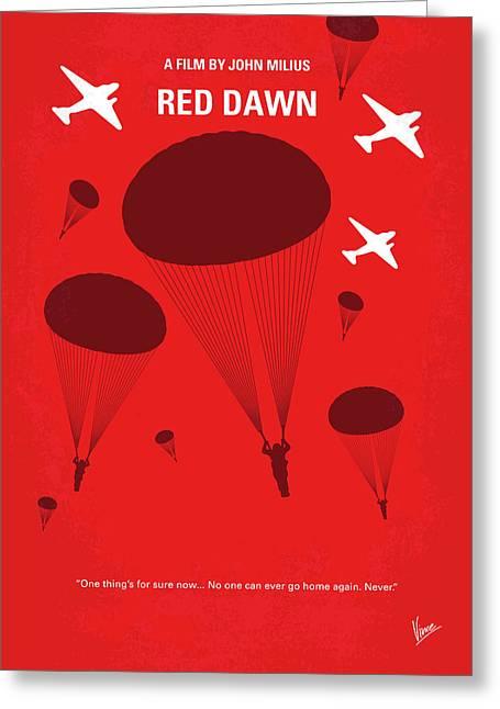 No1018 My Red Dawn Minimal Movie Poster Greeting Card