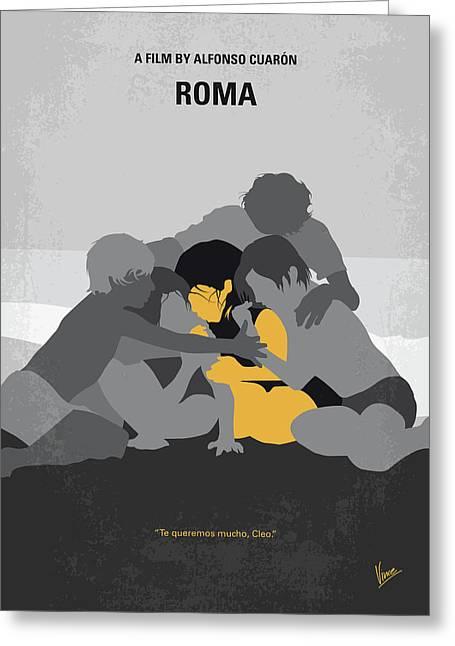 No1035 My Roma Minimal Movie Poster Greeting Card