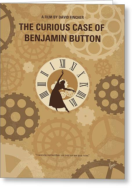 No1068 My Curious Case Of Benjamin Button Minimal Movie Poster Greeting Card