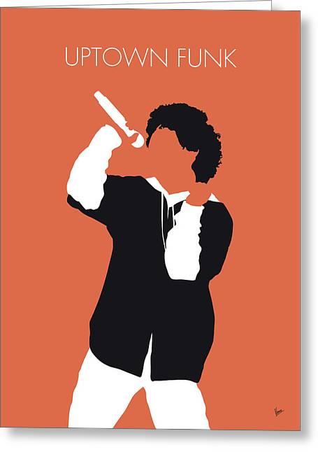 No223 My Bruno Mars Minimal Music Poster Greeting Card