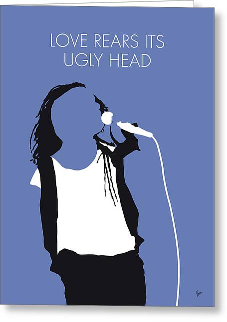 No238 My Living Color Minimal Music Poster Greeting Card