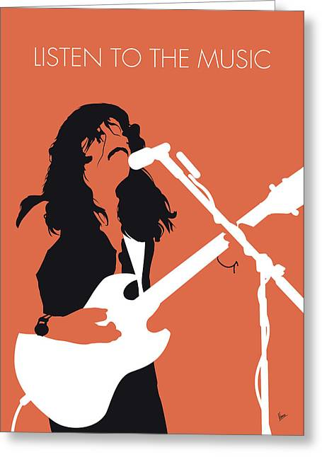 No243 My Doobie Brothers Minimal Music Poster Greeting Card