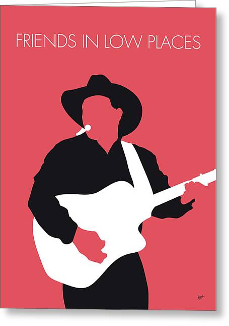No272 My Garth Brooks Minimal Music Poster Greeting Card