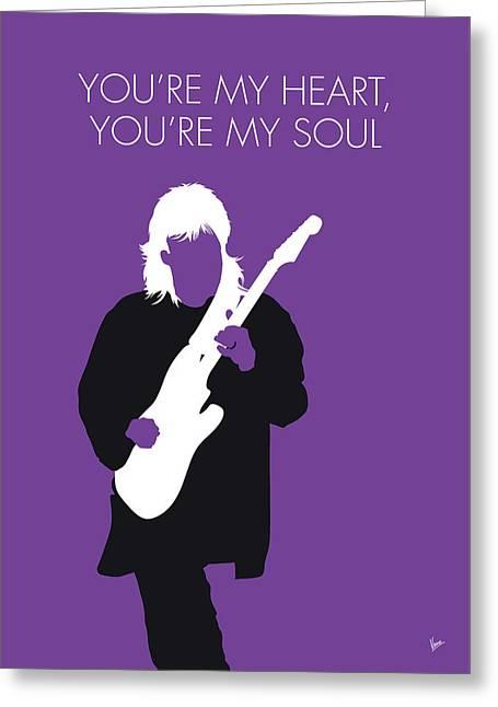 No281 My Modern Talking Minimal Music Poster Greeting Card