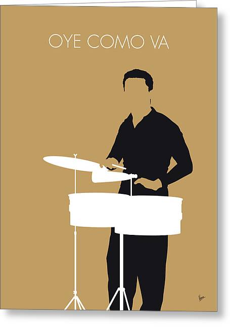 No300 My Tito Puente Minimal Music Poster Greeting Card
