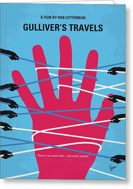 Travel writer greeting cards fine art america no967 my gullivers travels minimal movie poster greeting card m4hsunfo