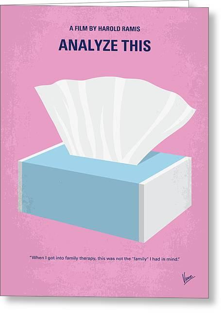 No968 My Analyze This Minimal Movie Poster Greeting Card