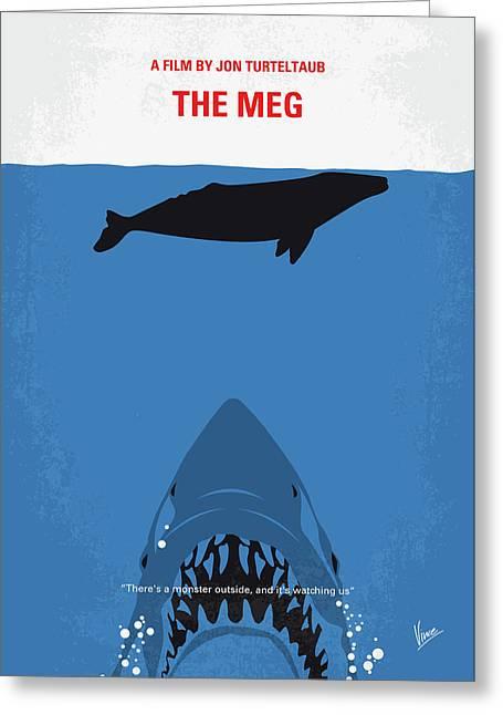 No985 My Meg Minimal Movie Poster Greeting Card