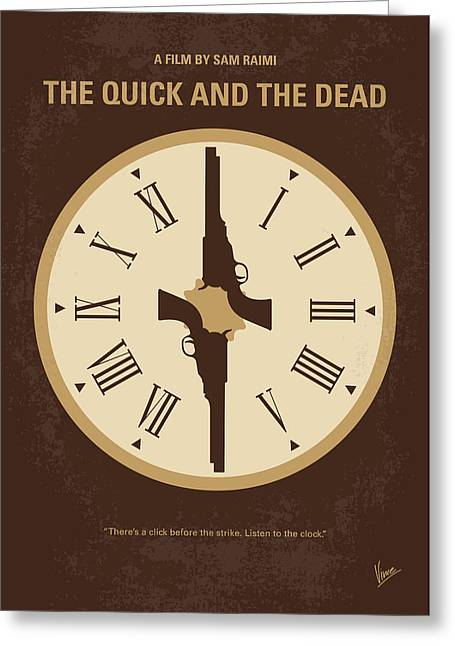 No988 My The Quick And The Dead Minimal Movie Poster Greeting Card